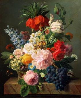 Jan Frans van Dael - Flowers and fruits