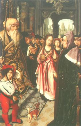 The disputation of St. Katharina (left wing of a t