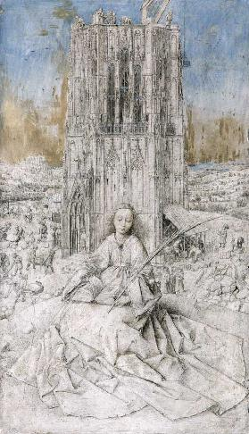 St. Barbara, 1437 (grisaille)