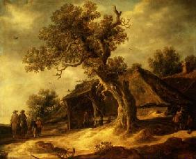 Landscape with an Oak