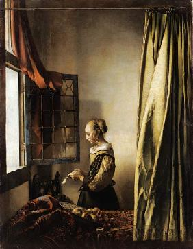 Girl reading a Letter at an Open Window 1658