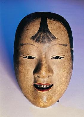 Noh theatre mask of a young boy called Kasshiki, 15th-19th century (lacquered wood)
