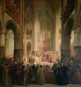 Estates General of Paris Meeting in Notre-Dame after the Death of Charles IV (1295-1328), 1st Februa