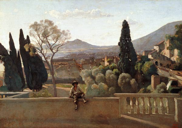 Jean-Baptiste-Camille Corot - The Gardens of the Villa d'Este, Tivoli
