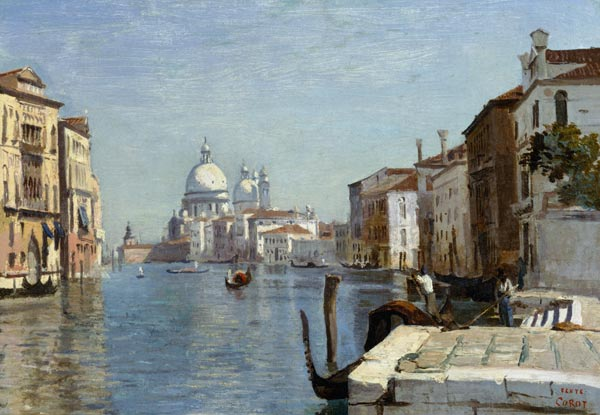 Jean-Baptiste-Camille Corot - Venice - View of Campo della Carita looking towards the Dome of the Salute