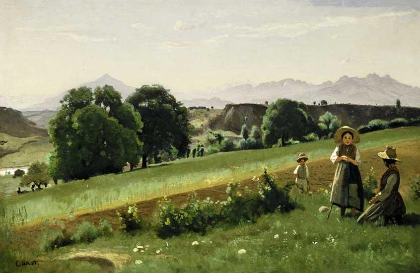 Jean-Baptiste-Camille Corot - Campo de la Haute Savoie