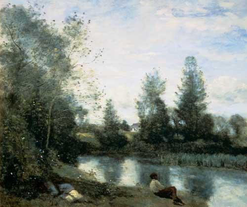 Jean-Baptiste-Camille Corot - A la orilla del río