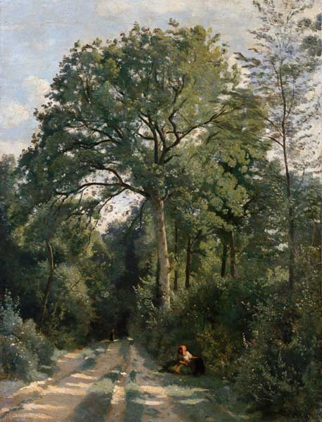 Jean-Baptiste-Camille Corot - Woods entrance at Ville this ' Avray.