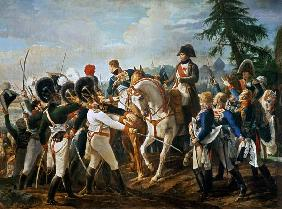 Napoleon and the Bavarian and Wurttemberg troops in Abensberg, 20th April 1809