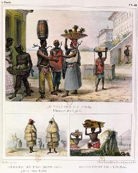 The Iron Collar, Negroes Working in the Rain and Carrying Tiles, three illustrations from ''Voyage P