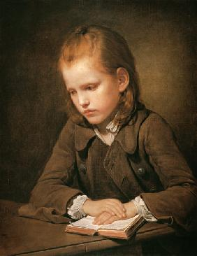 boy with schoolbook