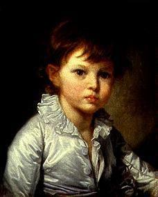 Portrait of the count Stroganov as a child.