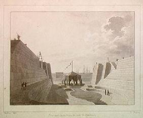 Dry dock at Cherbourg, July 1813 (pen