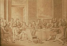 The Congress of Vienna, 1815 (pencil & w/c) (SEE ALSO 217258)
