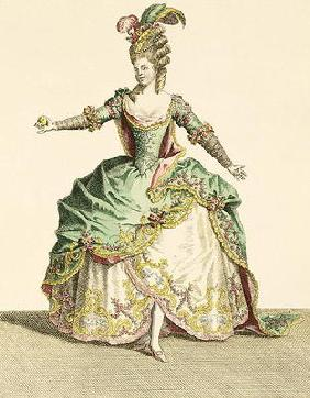 Costume for Venus in several operas, engraved by the artist, c.1780 (engraving)