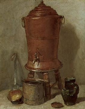 Chardin / Water kettle / Painting / 1779