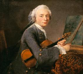 Portrait of the Charles Godefroy with violin
