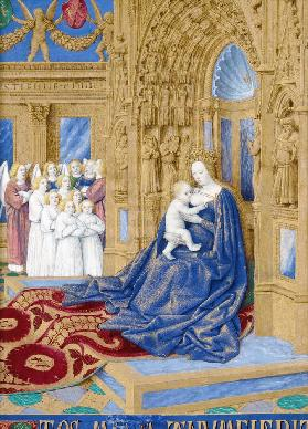 The Virgin and Child enthroned (Hours of Étienne Chevalier)