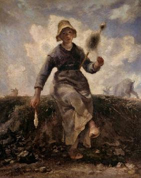 Spinning shepherdess (La fileuse)