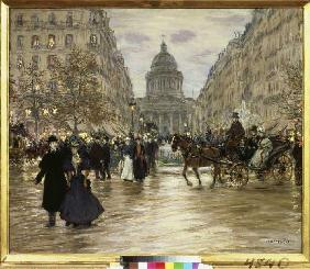 The boulevard of Saint Michel in Paris.