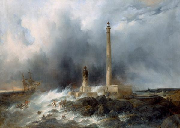 Petit, Jean Louis : View of the Lighthouse at ...