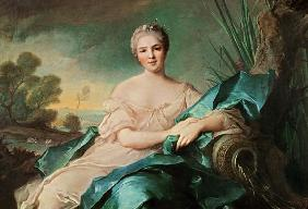 Portrait of Victoire de France as the element Water (oil on canvas)