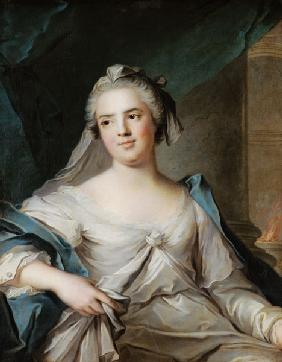 Madame Henriette as a Vestal Virgin, 1751 (oil on canvas)
