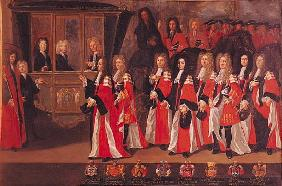 The Entry of Louis of France (1682-1712) Duke of Burgundy and Charles (1686-1714) Duke of Berry into