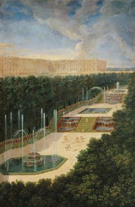 The Groves of Versailles, Perspective View of the Three Fountains with Cherubs Raking and Watering