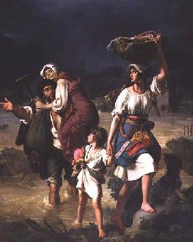 Roman Peasants Fleeing the Flooding of the River Tiber