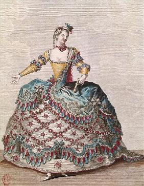 Costume for an Indian woman for the opera ballet ''Les Indes Galantes'' Jean-Philippe Rameau (1683-1