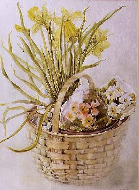 Daffodil Basket (w/c on paper)