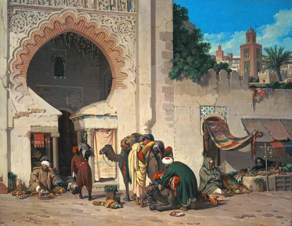 Escena de una calle con rabes y camellos joaquin for Todo pintura sevilla