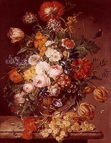 Vase with spring and summer flowers