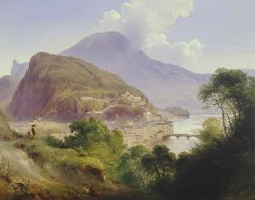 Salzburg view with capuchin mountain