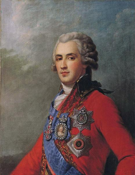 Portrait of Prince Platon Zubov (1767-1822), the last of Catherine the Great's Favourites
