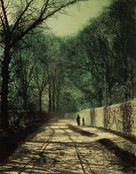 Tree Shadows in the Park Wall, Roundhay, Leeds, 1872 (oil on canvas)