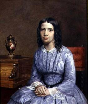 Portrait of Elizabeth Barrett Browning (1806-61)