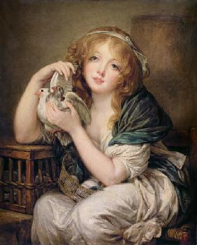 Girl with the Doves (after Greuze)