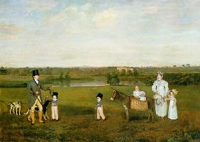 William Hetton Cooke with his Wife and Children at Worleston Rookery, Chester