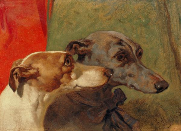 The Greyhounds 'Charley' and 'Jimmy' in an Interior
