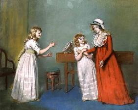 Mrs. Henderson, Mrs. Kendall and Mrs. Thompson, Daughters of Thomas Rowsby, Crome Hall, Malton, York