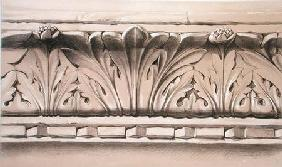 Cornice Moulding, From a Tomb in the Church of S.S. Giovanni e Paolo, from 'Examples of the Architec