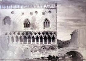 Exterior of Ducal Palace, Venice (pen