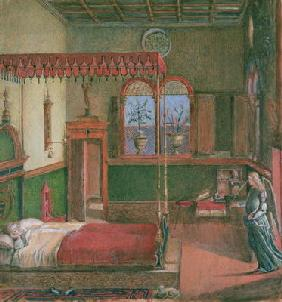 The Dream of St. Ursula, after Carpaccio (gouache on paper) (see also 686)