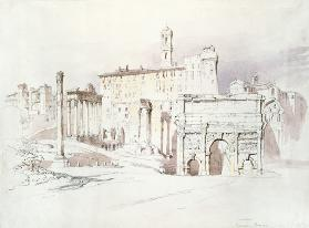 The Forum, Rome (w/c on paper)