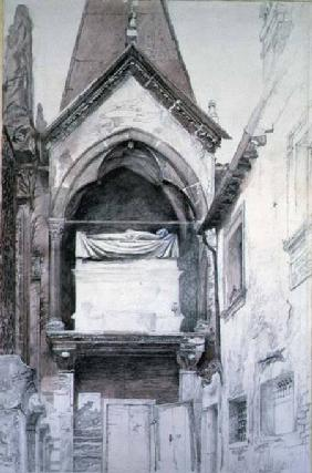 The Tomb of Cangrande I (d.1329), Santa Maria Antica, Verona cil & w/c on