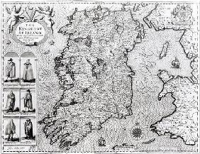 The Kingdom of Ireland, engraved by Jodocus Hondius (1563-1612), 'Theatre of the Empire of Great Bri