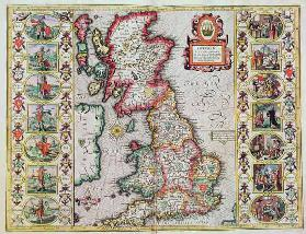 Britain As It Was Devided In The Tyme of the Englishe Saxons especially during their Heptarchy (hand