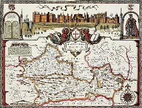 Berkshire; engraved by Jodocus Hondius (1563-1612) from John Speed''s Theatre of the Empire of Great